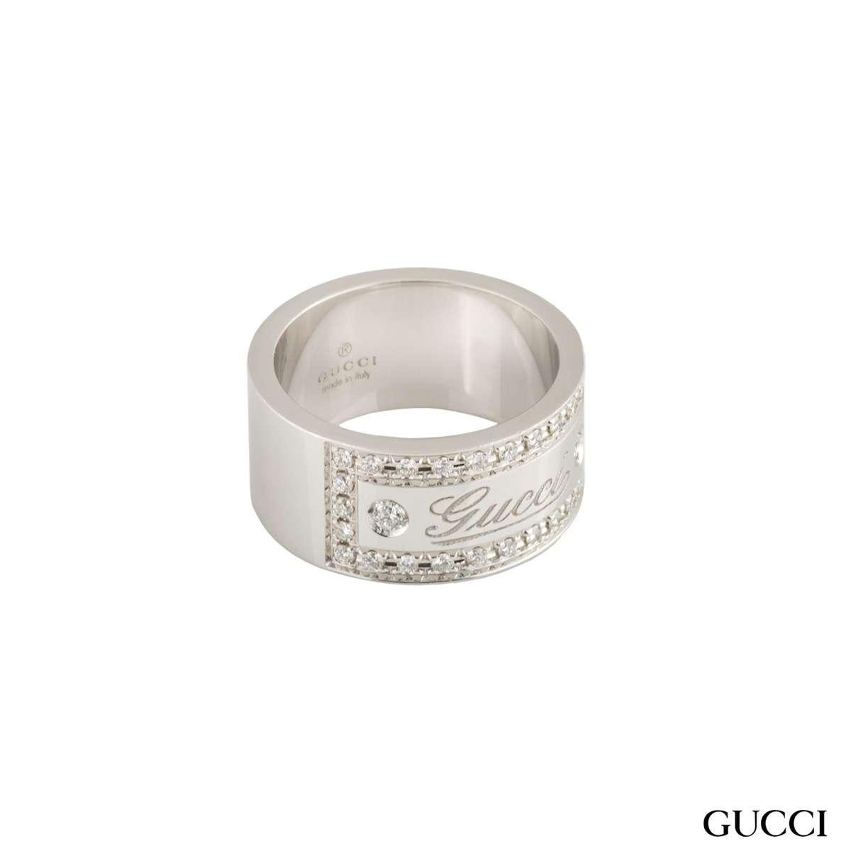 Gucci Diamond Band Ring
